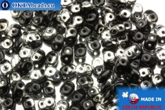 Superduo black silver (S23980) 2,5x5mm, 10g