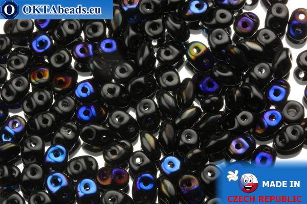 Superduo black blue (BR23980) 2,5x5mm, 10g