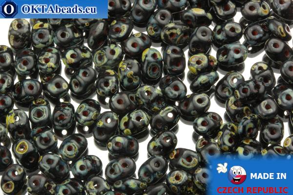 Superduo black travertin (T23980) 2,5x5mm, 10g