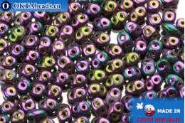 Супердуо фиолетовый ирис (21495JT) 2,5x5мм, 10гр SD019