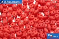 Superduo červený matný (91250/84110) 2,5x5mm, 10g