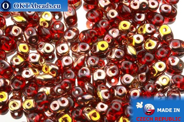 Superduo červený zlato (C90080) 2,5x5mm, 10g