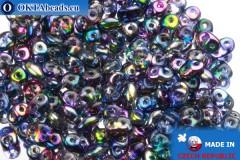 Superduo crystal AB (95100CR) 2,5x5mm, 10g