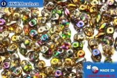 Superduo crystal AB (95300CR) 2,5x5mm, 10g