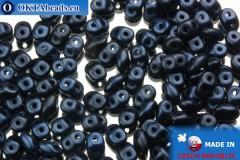 Superduo modrý metalíza matný (79032MJT) 2,5x5mm, 10g