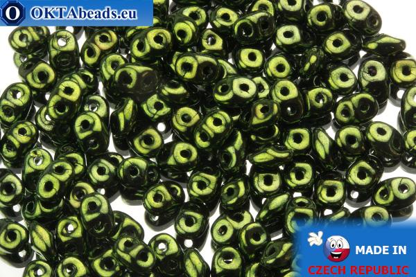 Superduo green metallic (LK23980) 2,5x5mm, 10g