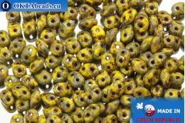 Супердуо желтый травертин (TP83120) 2,5x5мм, 10гр SD032