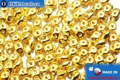 Superduo zlato 24kt (MAG01) 2,5x5mm, 10g