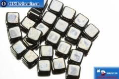 TILE Чешские бусины, 2 отверстия гематит (L23980) 6мм25шт