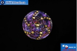 Czech glass button Ornament 31,9mm, 1pc knof012