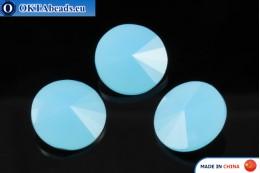 Chinarovsky Rivoli - Caribbean Blue Opal 14mm, 1pc CHIN-0012