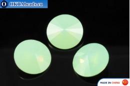 Chinarovsky Rivoli - Chrysolite Opal 14mm, 1pc CHIN-0013