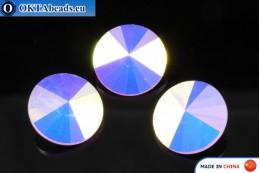 Chinarovsky Rivoli - Rose Water Opal AB 14mm, 1pc CHIN-0009