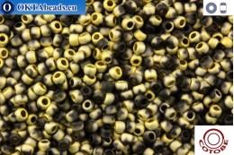 COTOBE Beads Black and Gold Mat (J055) 11/0