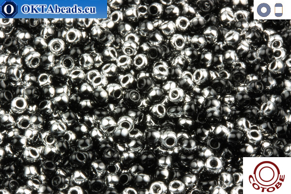 COTOBE Beads Black and Silver (J009) 11/0