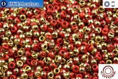 COTOBE Beads Brick-red and Gold (J012) 11/0
