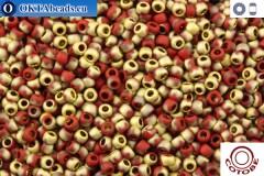COTOBE Beads Brick-red and Gold Mat (J049) 11/0