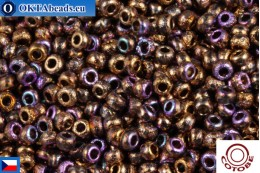 COTOBE Beads CZ Copper Etched Rainbow (04011) 11/0, 10gr CCR-11-04011