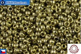 COTOBE Beads CZ Gold Etched (04006) 11/0, 10gr CCR-11-04006