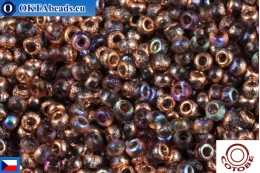COTOBE Beads CZ Half Copper Etched Rainbow (04010) 11/0, 10gr CCR-11-04010