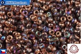COTOBE Beads CZ Half Copper Etched Rainbow (04010) 11/0, 10гр CCR-11-04010