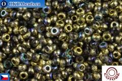 COTOBE Beads CZ Half Gold Etched Rainbow (04007) 11/0, 10гр