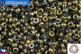 COTOBE Beads CZ Half Gold Etched Rainbow (04007) 11/0, 10gr CCR-11-04007