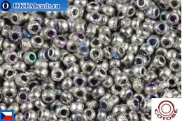 COTOBE Beads CZ Silver Etched Rainbow (04015) 11/0, 10gr CCR-11-04015