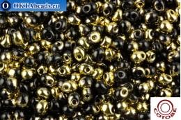 COTOBE Beads Drops Black and Gold (J104) 3,4mm CTBJ104