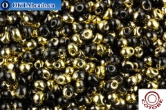 COTOBE Beads Drops Black and Gold (J104) 3,4mm