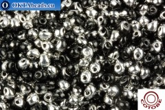 COTOBE Beads Drops Black and Silver (J097) 3,4mm