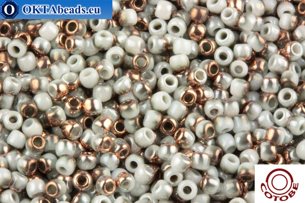 COTOBE Beads Grey Mist and Copper (J084) 11/0 CTBJ084