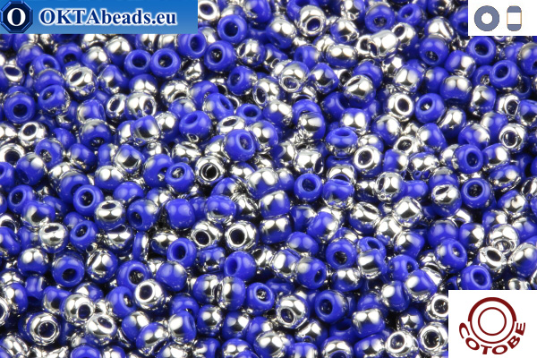 COTOBE Beads Lazurite and Silver (J019) 11/0