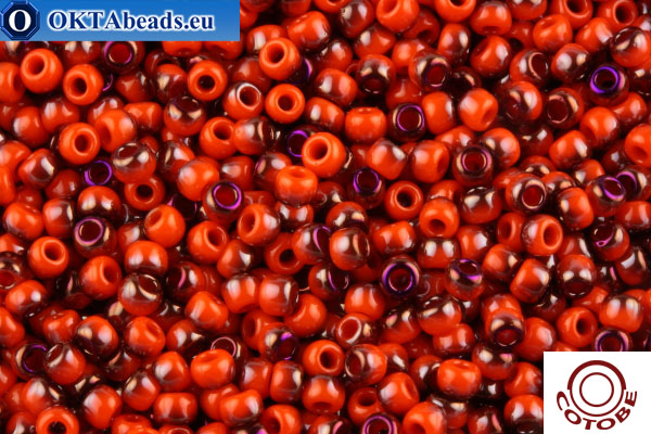 COTOBE Beads Red Grapefruit Purple Half Shine (J081) 11/0