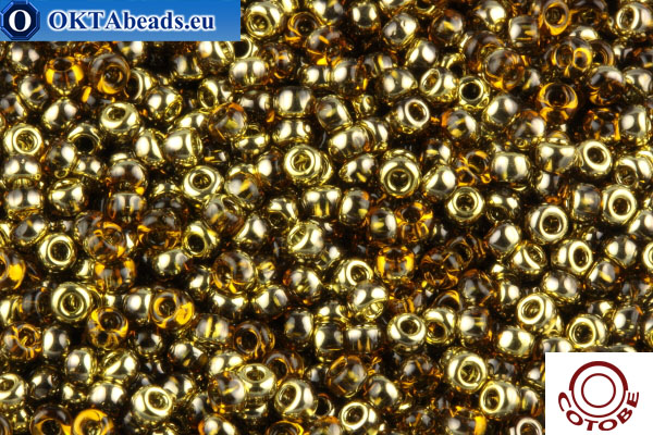 COTOBE Beads Topaz and Gold (J085) 11/0 CTBJ085
