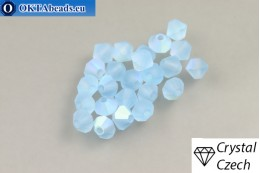 Preciosa Crystal Bicone - Aquamarine Matt AB 4mm, 24pc 4PRcrys123