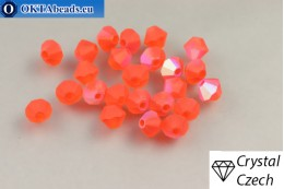 Preciosa Crystal Bicone - Hyacinth Matt AB 4mm, 24pc 4PRcrys119