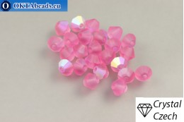 Preciosa Crystal Bicone - Rose Matt AB 4mm, 24pc 4PRcrys125
