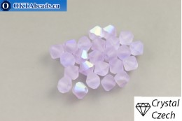Preciosa Crystal Bicone - Violet Matt AB 4mm, 24pc 4PRcrys128