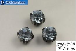 Пришивные шатоны 1028 Сваровски в цапах Indian Sapphire - Черные ss39/8,4мм, 1шт SW_chat_028