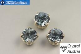 Пришивные шатоны 1028 Сваровски в цапах Indian Sapphire - Платина ss39/8,4мм, 1шт SW_chat_027