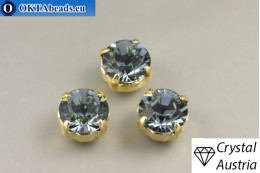 Пришивные шатоны 1028 Сваровски в цапах Indian Sapphire - Золото ss39/8,4мм, 1шт SW_chat_026