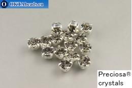 Našívací šaton Preciosa Maxima v kotlíku Black Diamond - Silver ss16/4mm, 15ks PR_chat_284