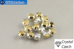 Našívací šaton Preciosa Maxima v kotlíku Crystal Aurum - Silver ss16/4mm, 15ks PR_chat_282