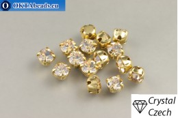 Našívací šaton Preciosa Maxima v kotlíku Crystal Golden Honey - Gold ss16/4mm, 15ks PR_chat_273