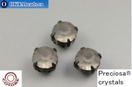 Пришивные шатоны Прециоза в цапах + COTOBE покрытие Black Diamond Matt - Черные ss39/8,4мм, 1шт CT-PR-39-BLD-F-B