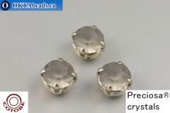Našívací šaton Preciosa v kotlíku + COTOBE pokov Black Diamond Matt - Platina ss39/8,4mm, 1ks
