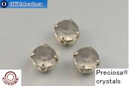 Пришивные шатоны Прециоза в цапах + COTOBE покрытие Black Diamond Matt - Платина ss39/8,4мм, 1шт CT-PR-39-BLD-F-P