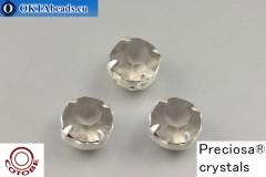 Našívací šaton Preciosa v kotlíku + COTOBE pokov Black Diamond Matt - Silver ss39/8,4mm, 1ks