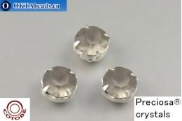 Пришивные шатоны Прециоза в цапах + COTOBE покрытие Black Diamond Matt - Серебро ss39/8,4мм, 1шт CT-PR-39-BLD-F-S